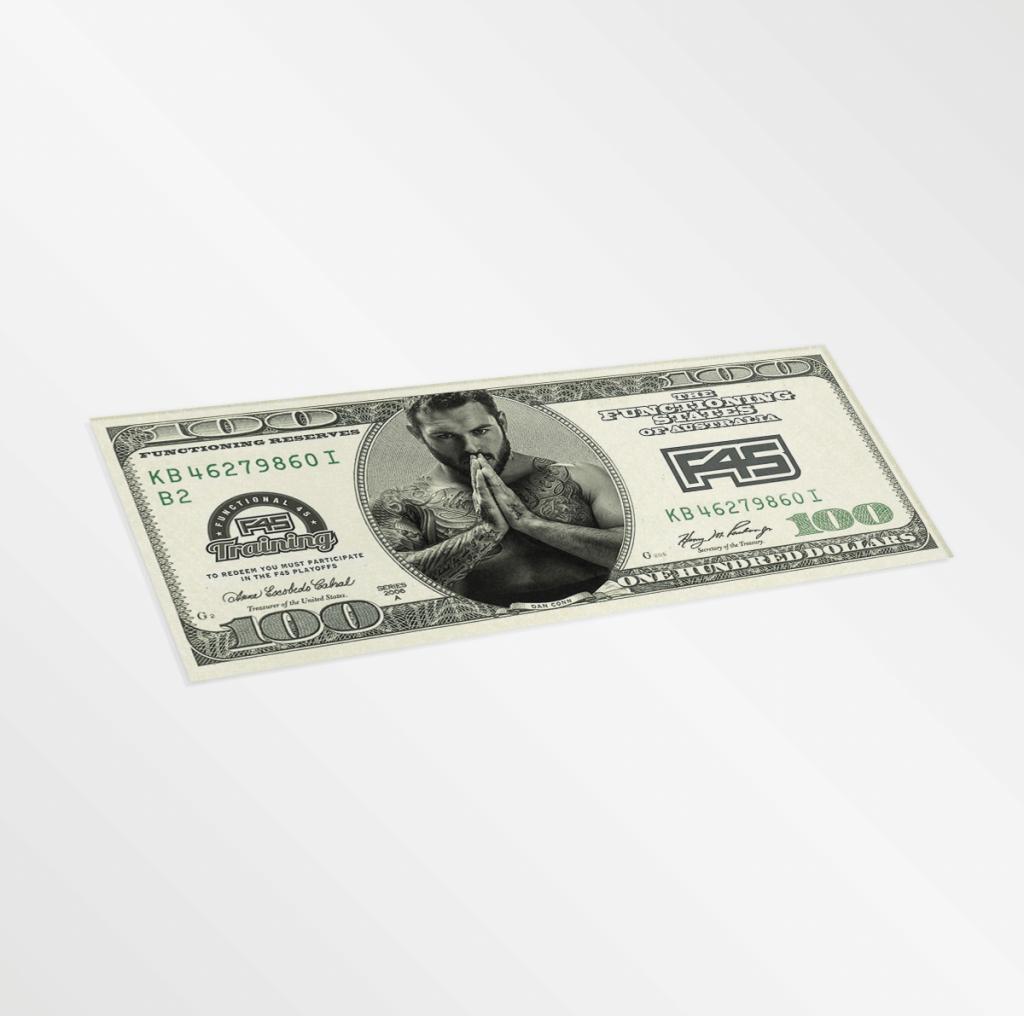 F45 100 Bill